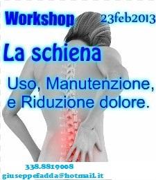 Workshop, Discipline Bio-Naturali : La schiena